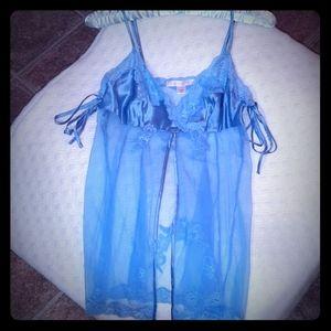 Victoria secret light blue sheer camisole
